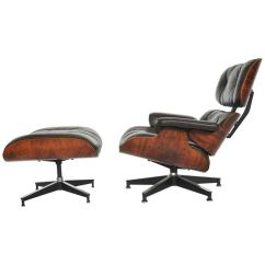 Herman Miller Lounge Chair Retro Stool Rosewood Charles Eames Dark