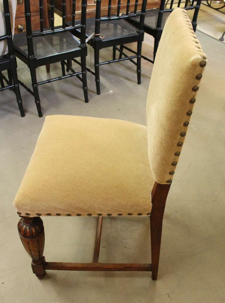 set of 4 chairs diy dining makeover 1920s english tudor style at 1stdibs