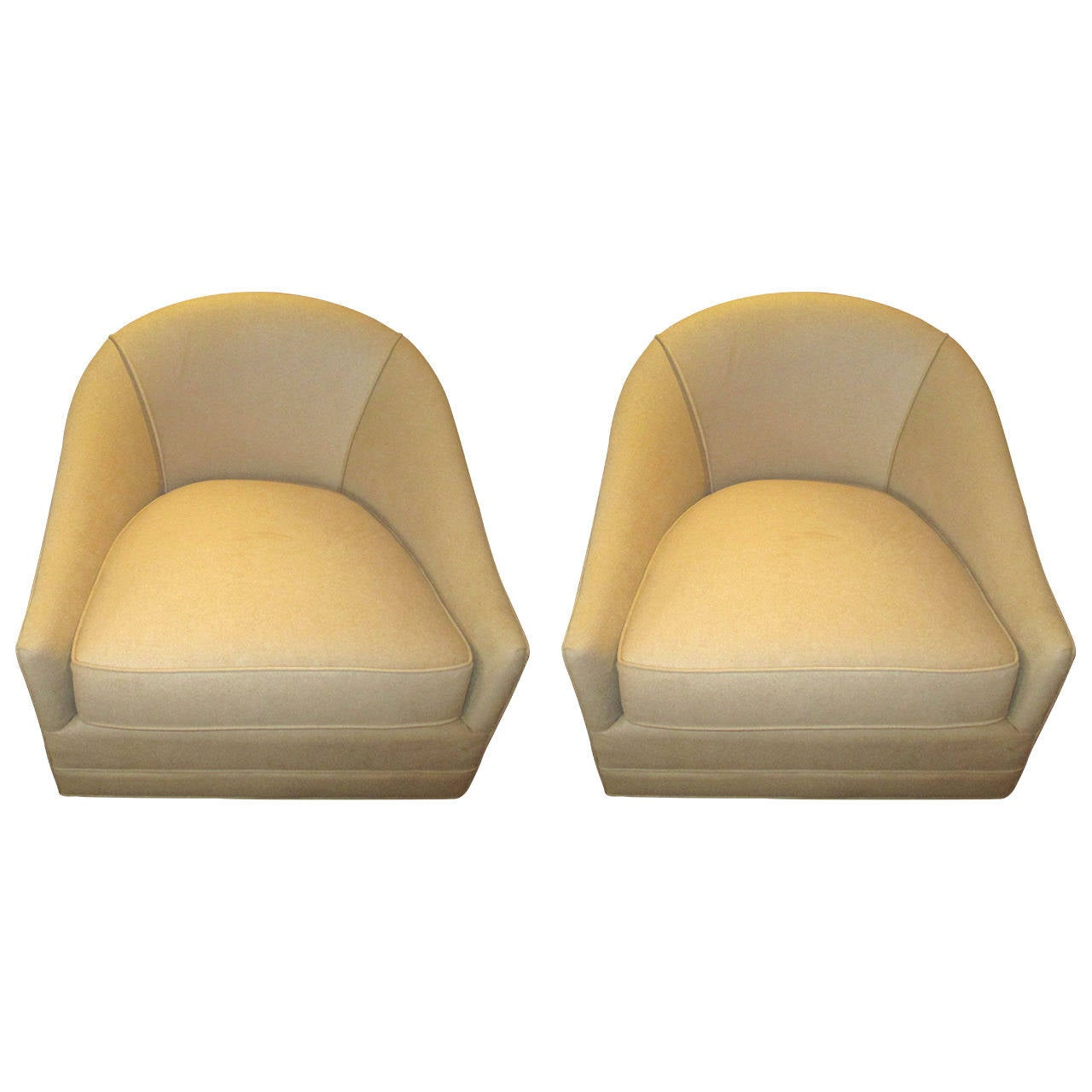 Cool Lounge Chairs Cool Pair Of Barrel Shaped Swivel Lounge Chairs At 1stdibs
