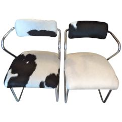 Cowhide Chairs Modern Aeron Chair Spare Parts Uk Pair Of Italian Mid Century At 1stdibs