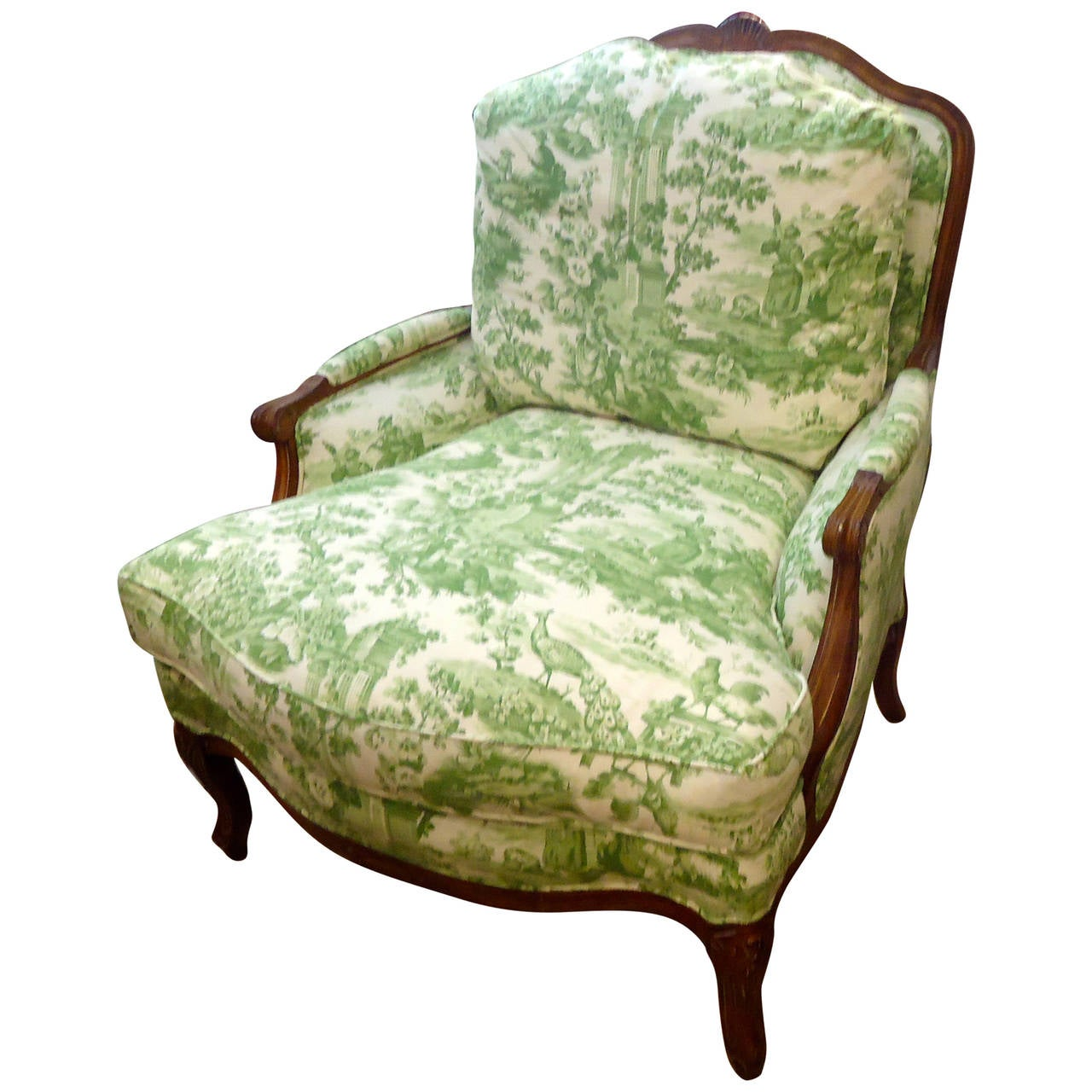 Comfiest Chair Large Comfy French Bergere Lounge Chair Upholstered In