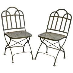 Chair Steel Folding Accent Chairs For Dining Room Vintage Heavy French Garden At 1stdibs