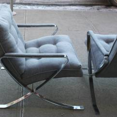 Retro Chrome Chairs Patterned Dining Room Vintage Lounge For Sale At 1stdibs