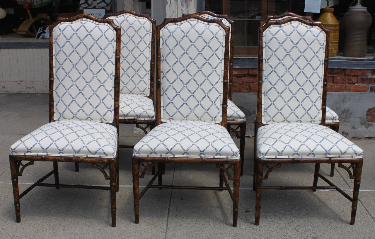 set of chairs french dining room eight henredon faux bamboo at 1stdibs