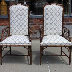 Bamboo Dining Chair Steel Material Set Of Eight Henredon Faux Chairs At 1stdibs