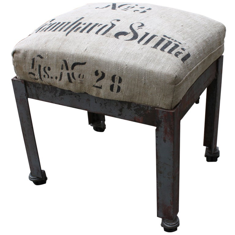 Industrial Washtub Ottoman For Sale At 1stdibs