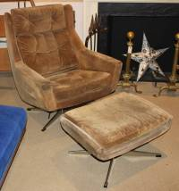 Mid-Century Modern Overman Lounge Chair with Ottoman at ...