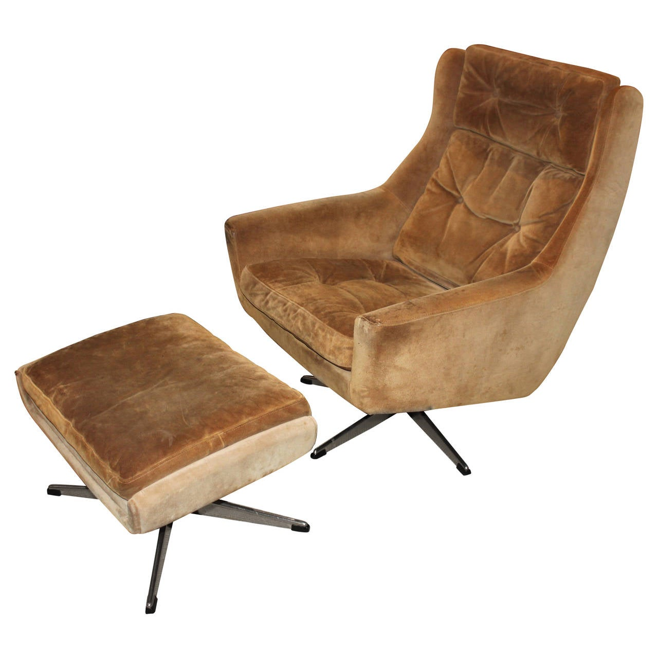 Modern Lounge Chairs Mid Century Modern Overman Lounge Chair With Ottoman At