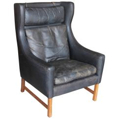 Leather Wingback Chairs Chair Covers Coventry Vintage Norwegian At 1stdibs