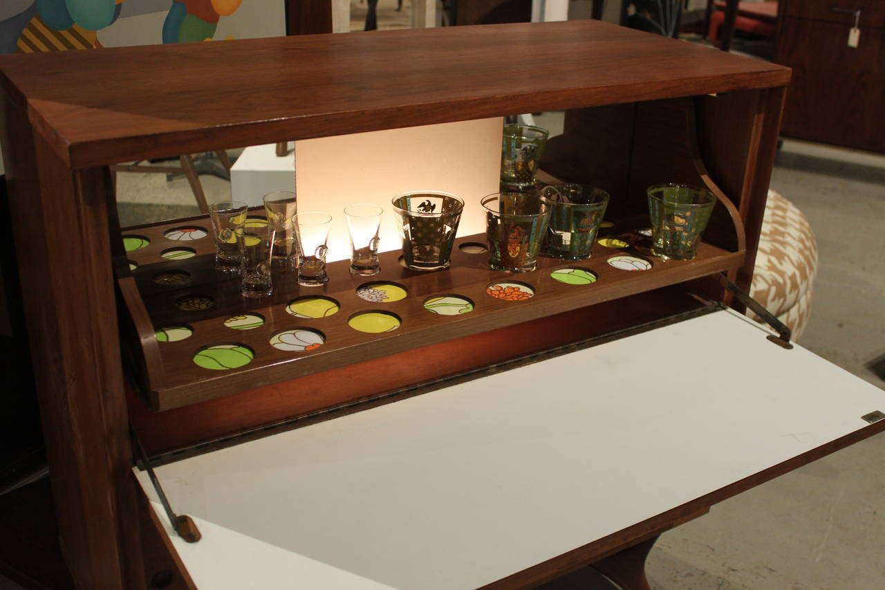 MidCentury Modern Bar Cabinet at 1stdibs