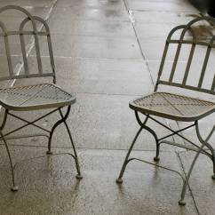 Chair Steel Folding Revolving Ipp Bank Vintage Heavy French Garden Chairs At 1stdibs