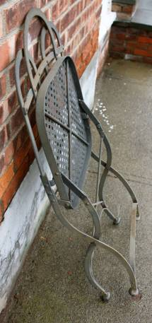 Vintage Heavy French Steel Folding Garden Chairs 1stdibs