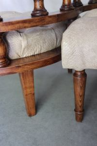 French Vis-a-Vis or Confident Chair For Sale at 1stdibs