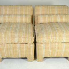 Upholstered Slipper Chair Lounge Lizard Pair Of Modern Chairs Circa 1960s For