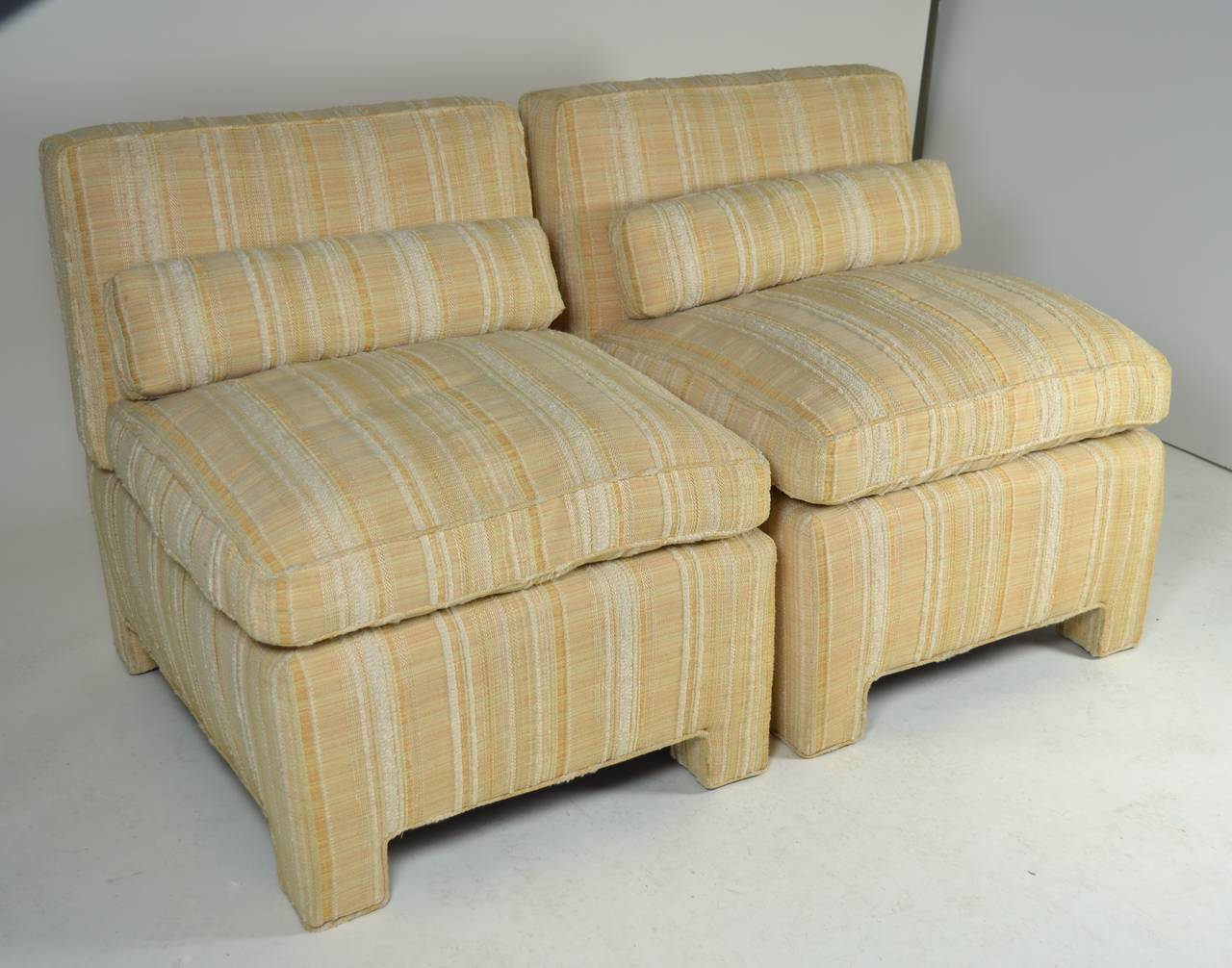 upholstered slipper chair zefo swing pair of modern chairs circa 1960s for