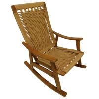 Wegner Style Mid Century Rocking Chair at 1stdibs