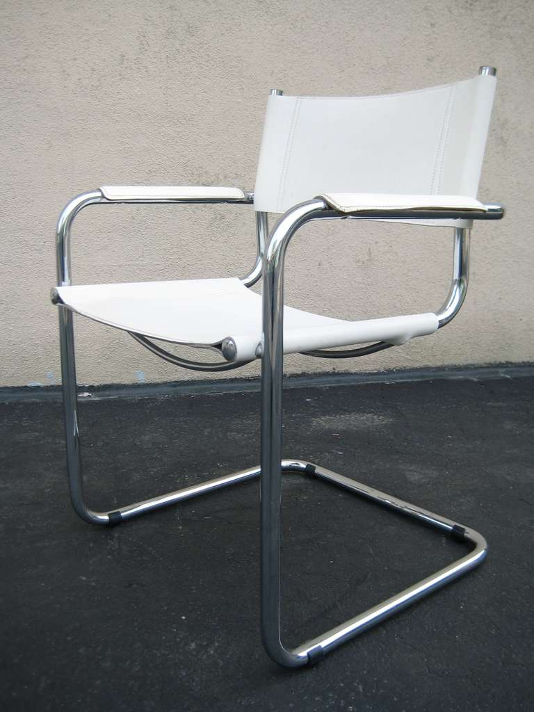 leather chrome chair school desk vintage marcel breuer white and italy at 1stdibs italian for sale