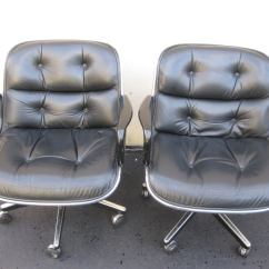 Knoll Pollock Chair Human Touch Massage Set Of 4 Charles For Black Leather Office