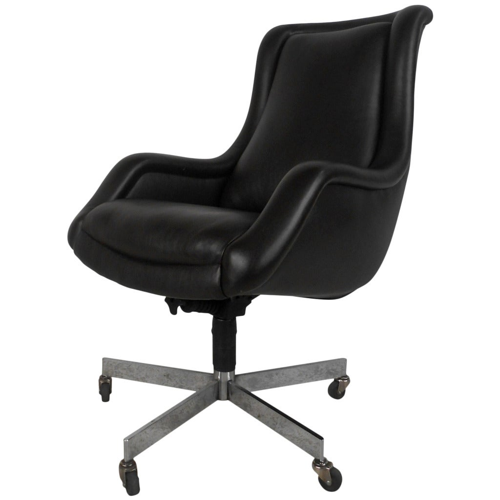 Leather Conference Room Chair at 1stdibs
