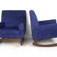 Cool Chairs For Sale Design Chair Nserc Unique Pair Mid Century Modern Suede Rocking