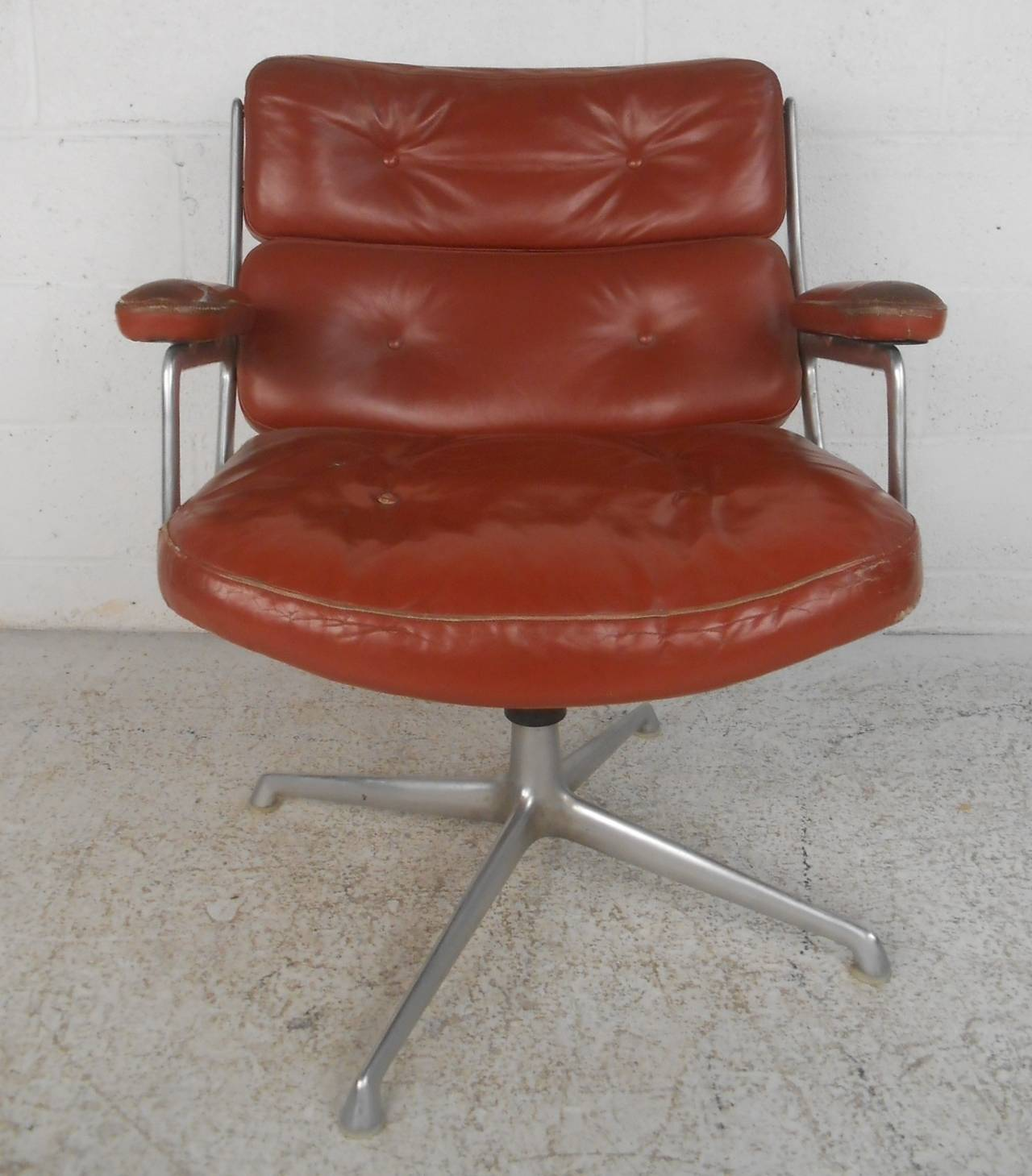 swivel chair mid century all purpose modern time life executive for