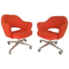 Cheap Rolling Chairs Vintage Style Desk Chair Eero Saarinen Designed For Knoll Sale At 1stdibs