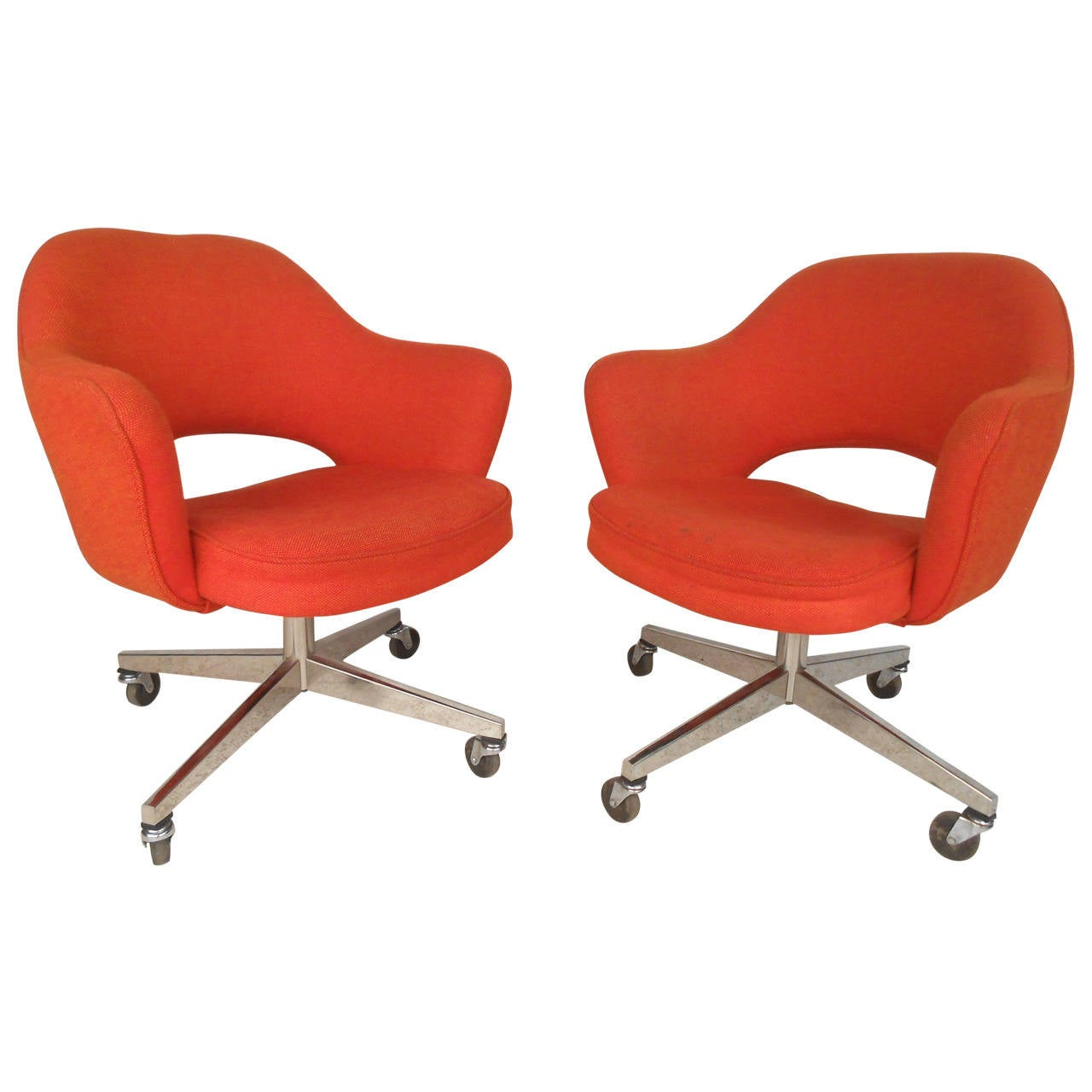 Roller Chairs Eero Saarinen Designed Rolling Chairs For Knoll For Sale