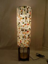 Mosaic Glass Tile Three Way Lamp at 1stdibs