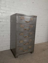 Striking Industrial File Cabinet at 1stdibs
