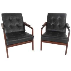Leather Chair Modern Cover Hire Hereford Pair Beautiful Mid Century Lounge Chairs At