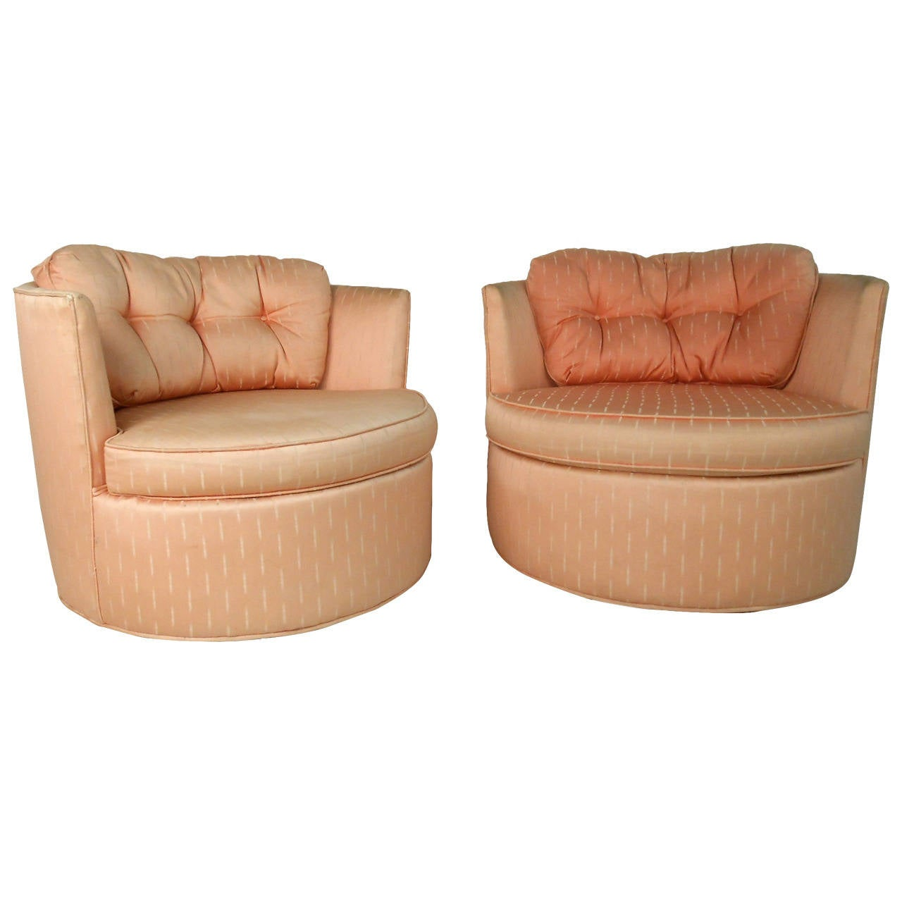 Modern Barrel Chair Pair Unique Mid Century Modern Barrel Back Swivel Chairs