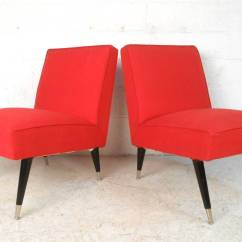 Modern Slipper Chair Ercol Dining Room Covers Pair Mid Century Italian Style Chairs For