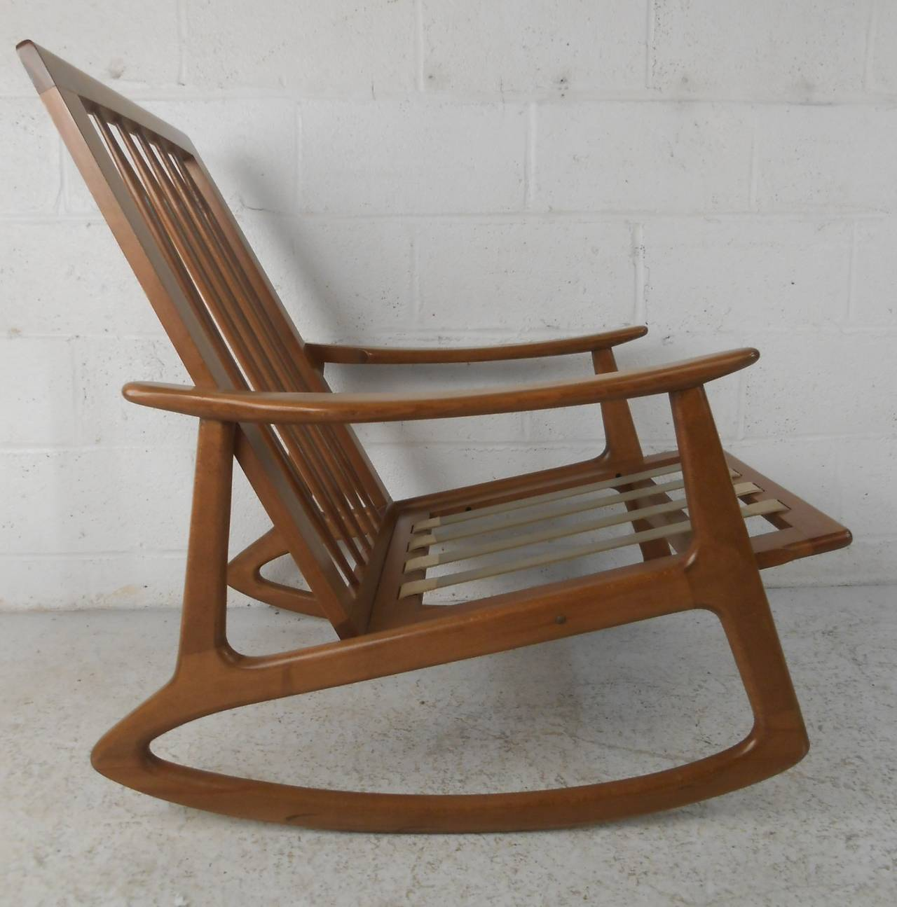 midcentury rocking chair neutral posture renati mid century for sale at 1stdibs