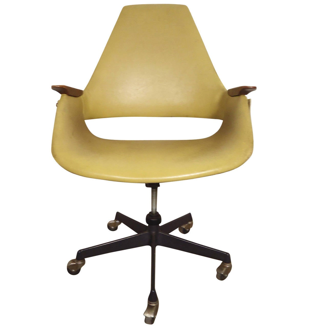 Roller Chairs Mid Century Modern Rolling Desk Chair At 1stdibs