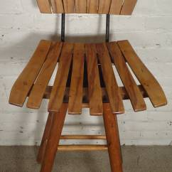 Seng Chicago Chair Black Table And Chairs Mid Century Slat Stool In The Manner Of Arthur Umanoff At