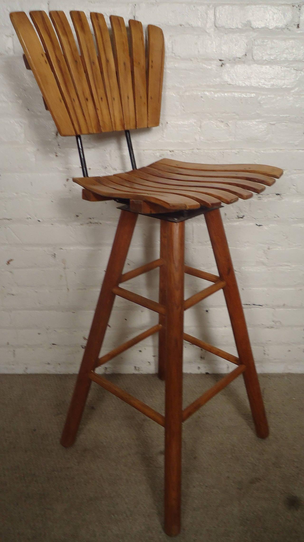 seng chicago chair mat for carpet floors mid century slat stool in the manner of arthur umanoff at