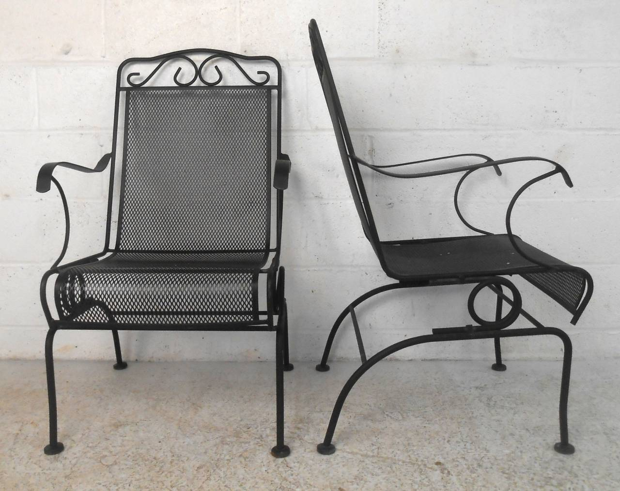 Iron Patio Chairs Set Of Ornate Cast Iron Patio Chairs For Sale At 1stdibs