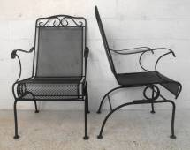 Set Of Ornate Cast Iron Patio Chairs 1stdibs