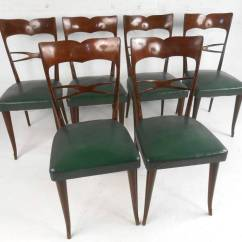 Italian Designer Dining Chairs Indoor Swing Set Of Guglielmo Ulrich Style Mid Century Modern