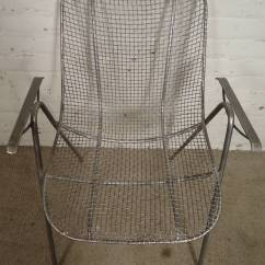 Mid Century Modern Wire Chair Tan Leather Arm For Sale At 1stdibs