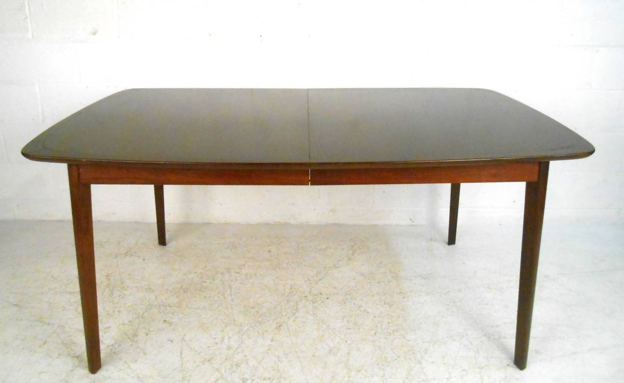 Unique Mid-Century Modern Dining Set Table With High Back