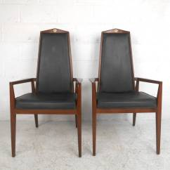 Unusual Dining Chair Wedding Covers For Sale Gumtree Unique Mid Century Modern Set Table With High Back