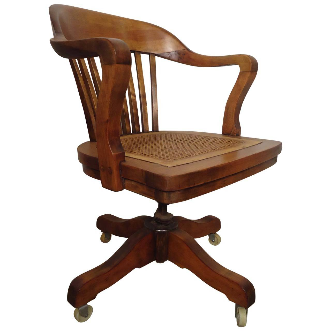 Vintage Swivel Chair Restored Vintage Swivel Desk Chair By Page For Sale At 1stdibs