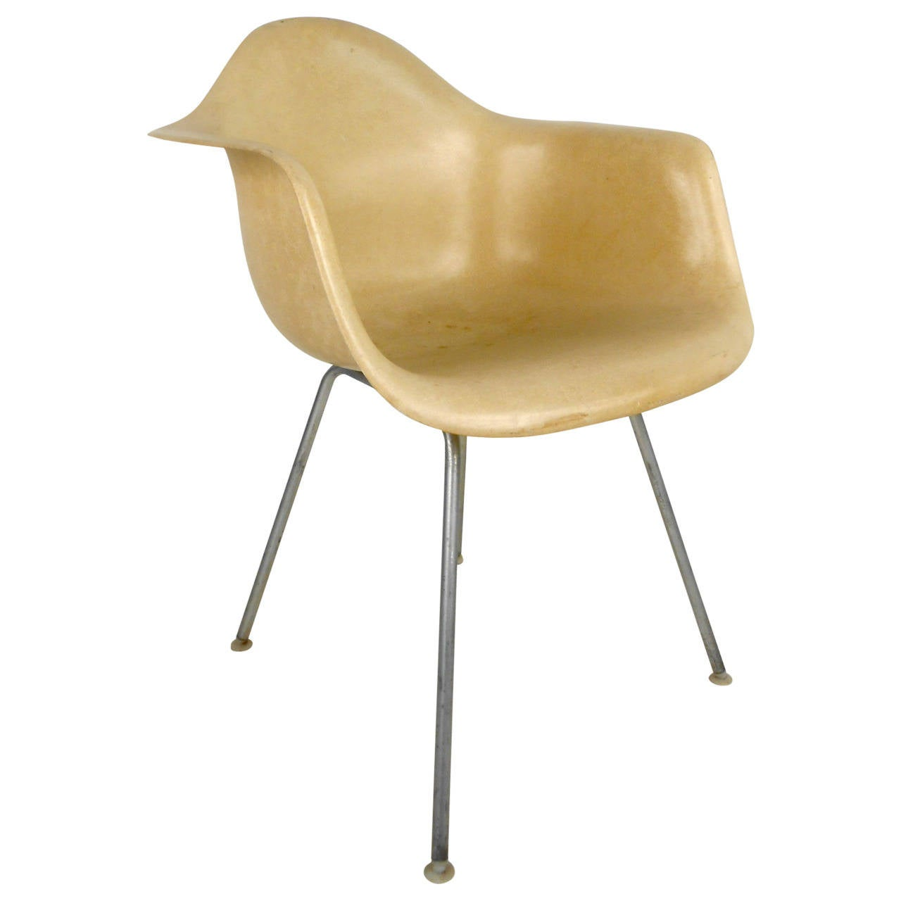 MidCentury Modern Fiberglass Shell Chair by Eames for