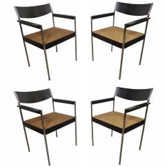 Cane Chairs For Sale Chair Slip Covers Walmart Set Of Four Seat Mid Century At 1stdibs