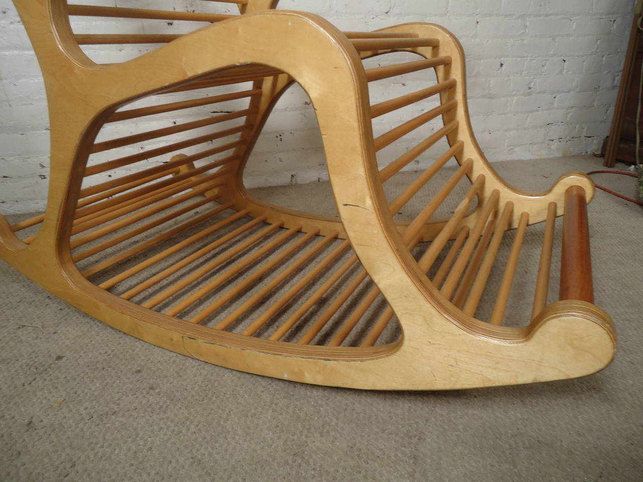 rocking chairs for sale navy blue wingback chair slipcover exceptional wood at 1stdibs