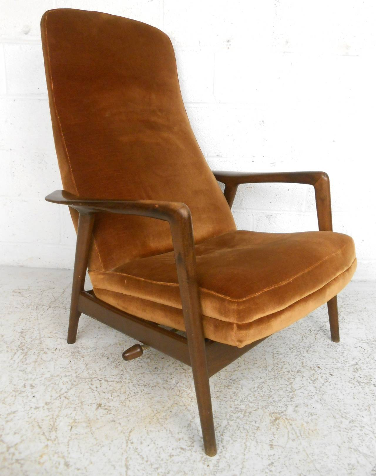 Mid Century Chair And Ottoman Mid Century Modern Folke Ohlsson Lounge Chair And Ottoman