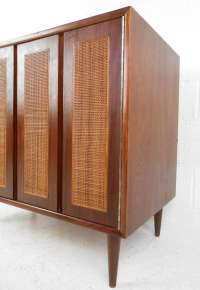Walnut and Cane Cabinet at 1stdibs