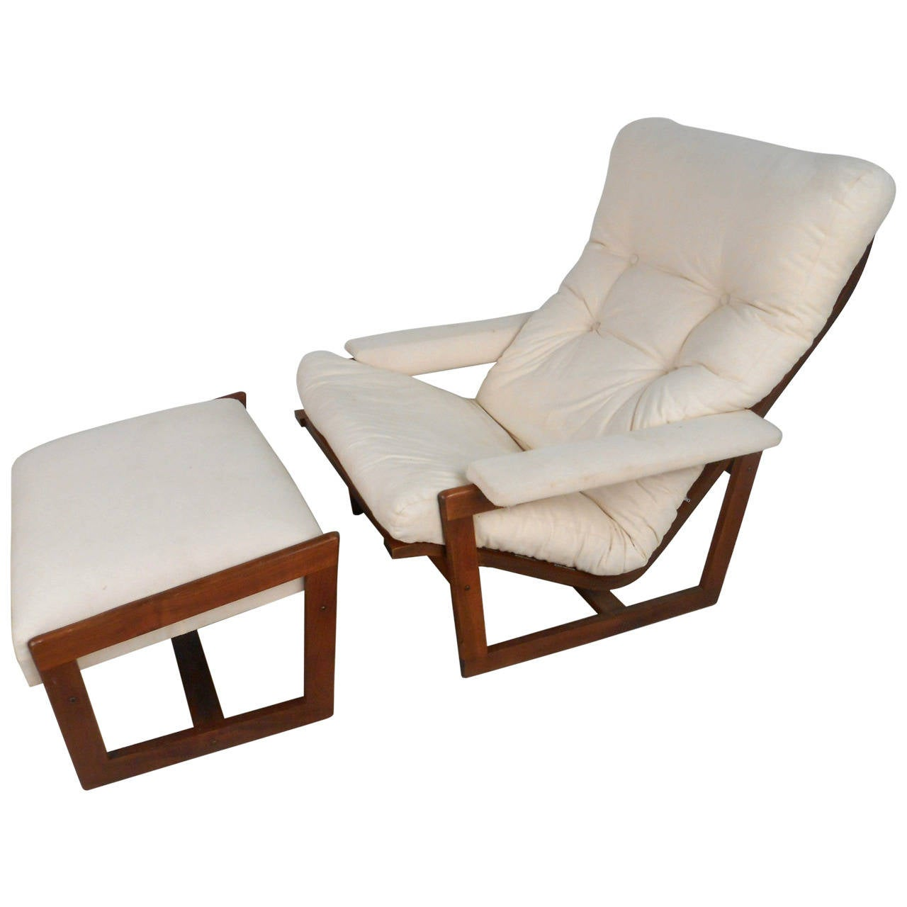 Modern Lounge Chairs Unique Mid Century Modern Teak Frame Lounge Chair With