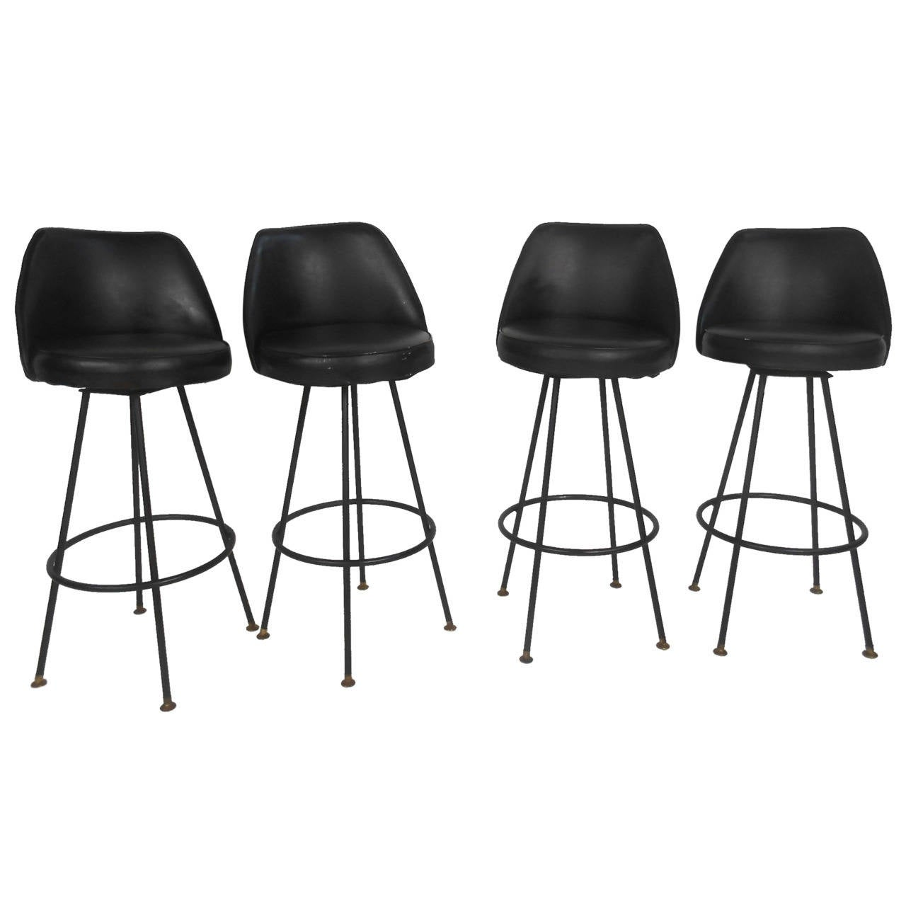 modern bar chairs best lumbar support office chair four mid century stools by admiral chrome